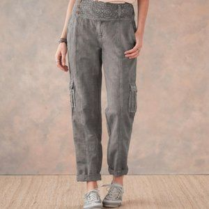 NWT Sundance More Than Cargo Pants Embroidered